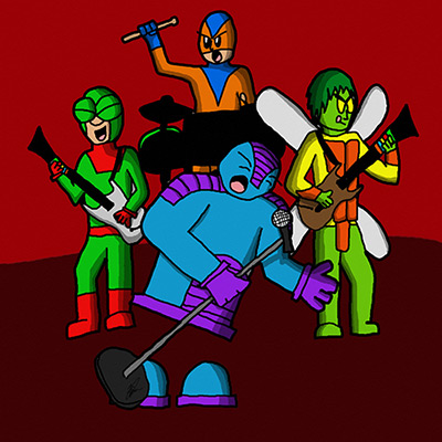 Team Jetpack 104 rockband